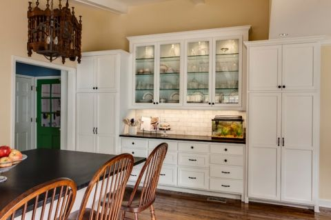 厨房白色橱柜美式风格效果图