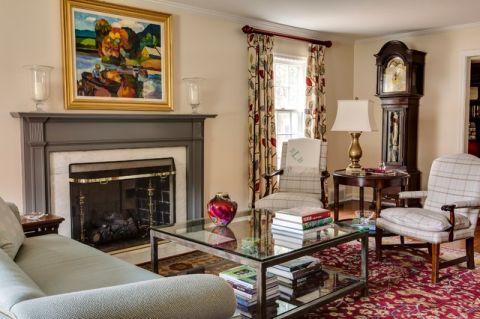 客厅米色照片墙美式风格装潢效果图