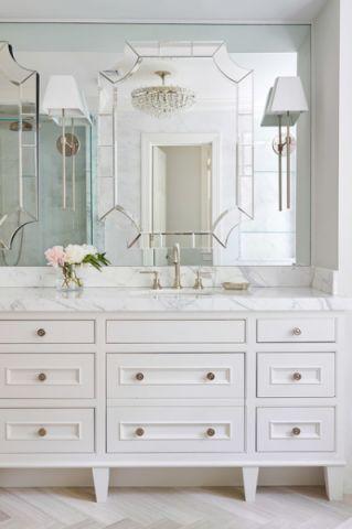 卫生间白色梳妆台美式风格效果图