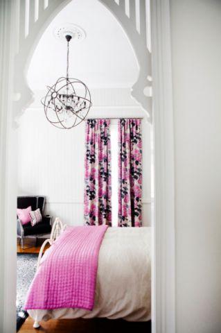 卧室粉色细节美式风格装潢效果图