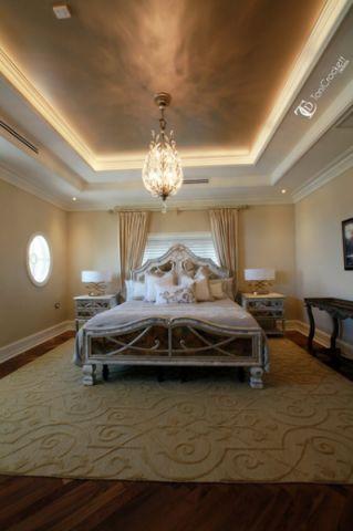 卧室咖啡色吊顶简欧风格装饰效果图