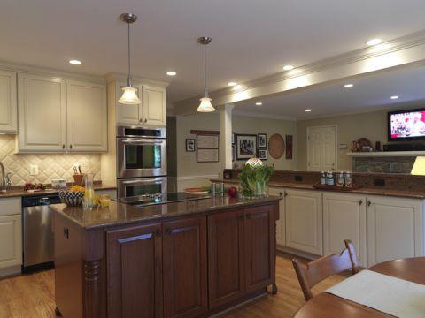厨房米色简欧风格效果图