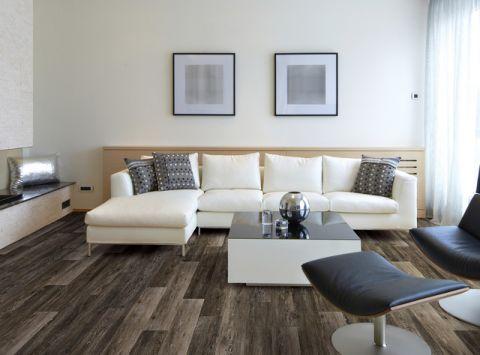 客厅米色照片墙简欧风格装潢设计图片