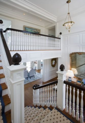 白色楼梯简欧风格装潢图片