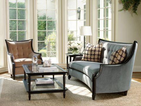 客厅灰色细节简欧风格装饰图片