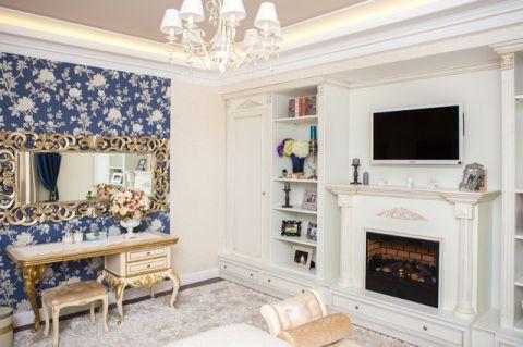 卧室白色书架简欧风格装饰设计图片