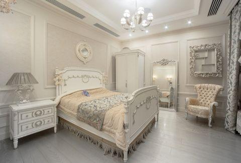 卧室白色吊顶简欧风格装修图片
