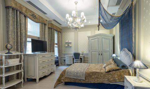 卧室白色吊顶简欧风格装饰图片