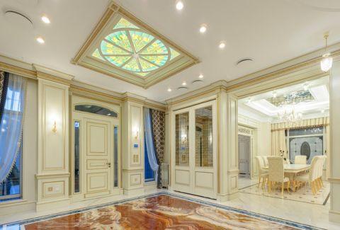 玄关白色门厅简欧风格装潢图片