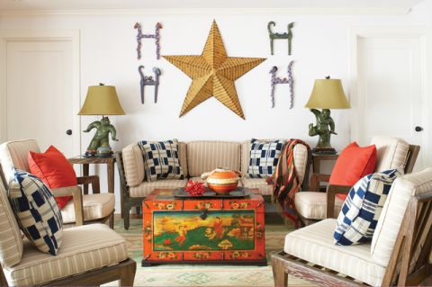 客厅彩色沙发简欧风格装饰效果图