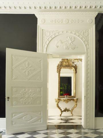 玄关白色走廊简欧风格装饰图片