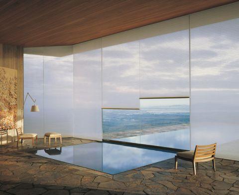米色泳池简欧风格装修设计图片
