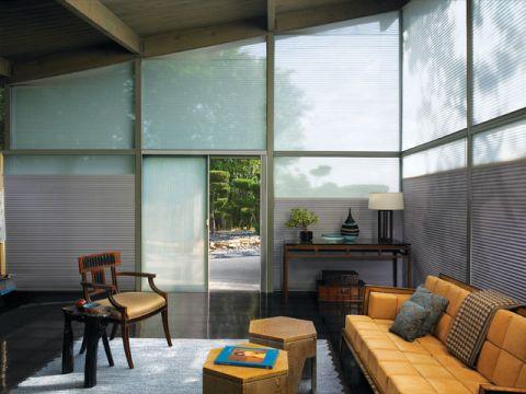 客厅咖啡色吊顶简欧风格装潢设计图片