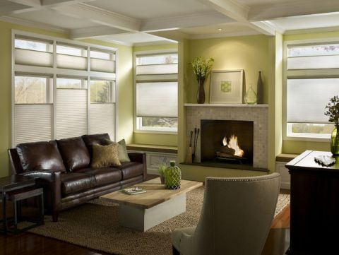 客厅绿色背景墙简欧风格装修效果图