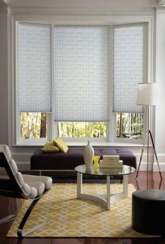 客厅米色飘窗简欧风格装饰效果图