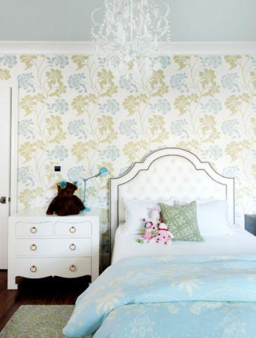 卧室背景墙简欧风格装修效果图