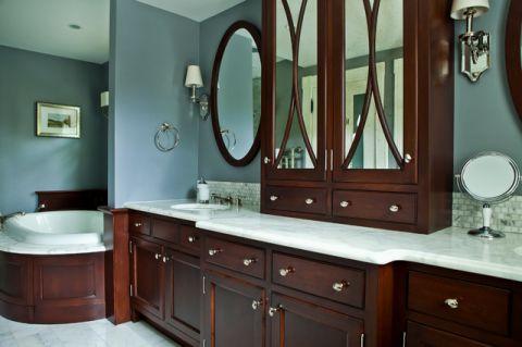 卫生间梳妆台简欧风格装潢效果图