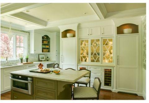 厨房厨房岛台简欧风格装饰设计图片