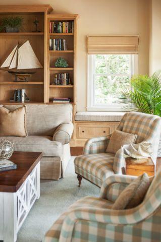 客厅米色沙发简欧风格装饰效果图