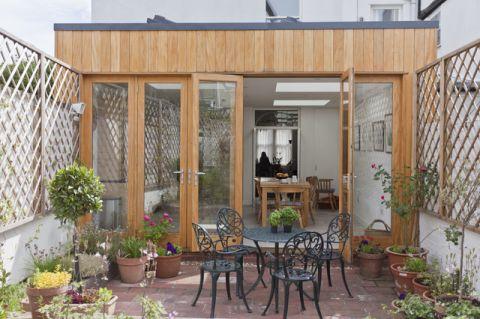 阳台落地窗简欧风格装潢设计图片