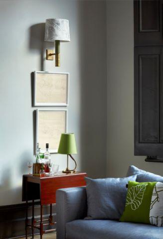 客厅绿色细节简欧风格装修效果图