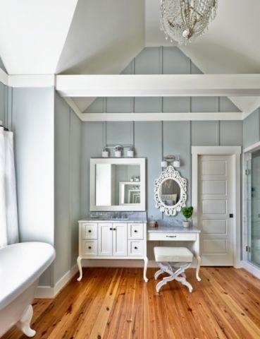 卫生间蓝色背景墙简欧风格效果图