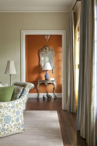 客厅米色细节简欧风格装饰设计图片