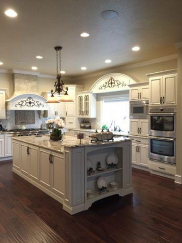 厨房厨房岛台简欧风格装潢图片