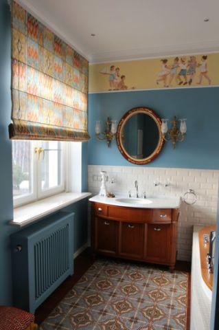 浴室背景墙简欧风格效果图