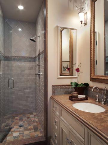 浴室背景墙简欧风格装饰设计图片
