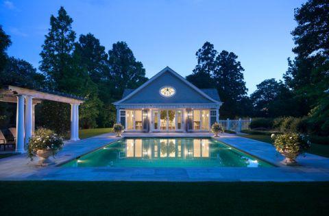 外景泳池简欧风格效果图