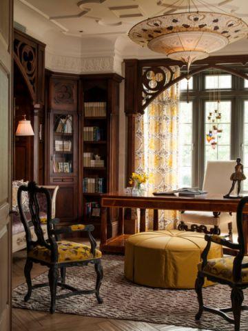 书房细节简欧风格装饰设计图片