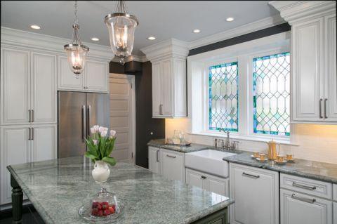 厨房窗台简欧风格装潢设计图片