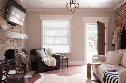 客厅窗台混搭风格装饰设计图片
