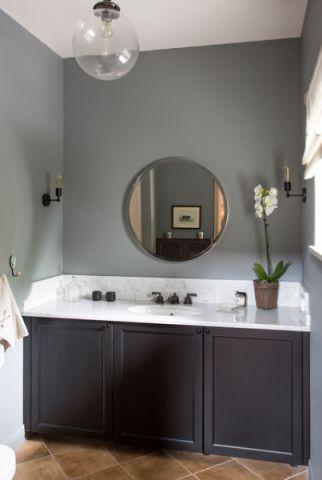 卫生间灰色橱柜混搭风格效果图