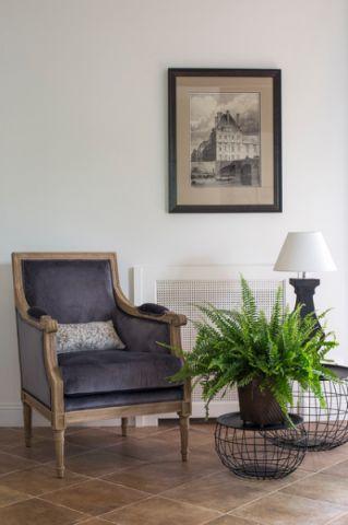 客厅蓝色细节混搭风格装修图片