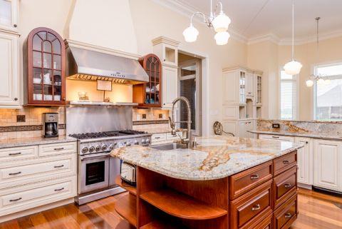 厨房红色细节混搭风格装修设计图片