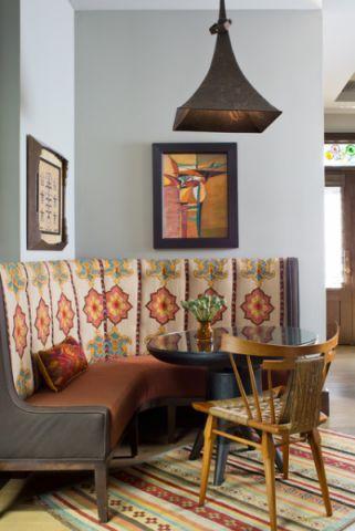 餐厅彩色细节混搭风格效果图