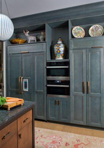 厨房绿色细节混搭风格装修图片