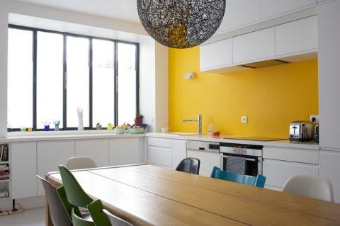 厨房背景墙混搭风格装修设计图片