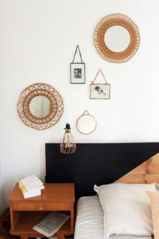 卧室背景墙混搭风格装潢图片
