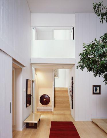 玄关白色细节现代风格装饰图片