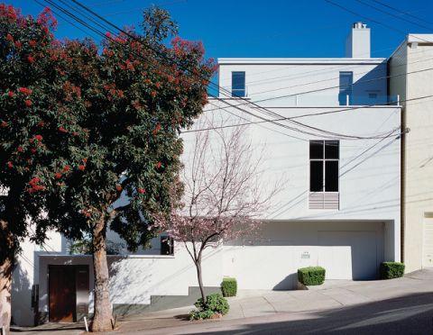 外景白色外墙现代风格效果图