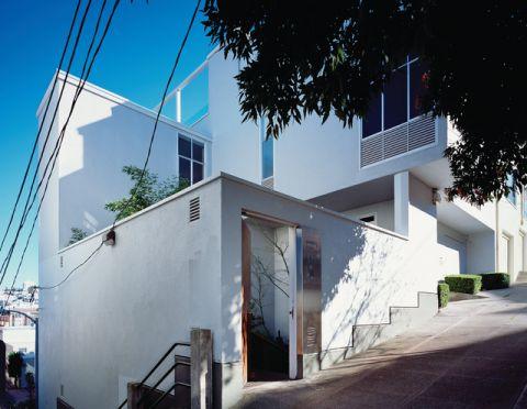 外景白色外墙现代风格装修效果图