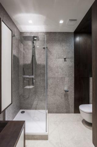 唯美现代风格浴室装修效果图_土拨鼠2017装修图片大全