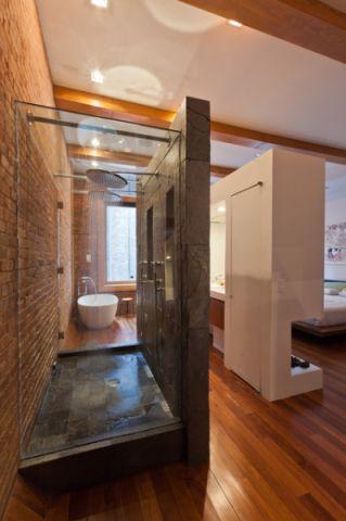 简洁优雅现代风格浴室装修效果图_土拨鼠2017装修图片大全