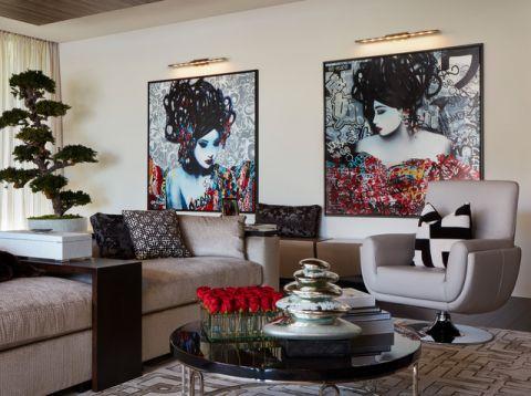 浪漫迷人现代风格客厅装修效果图_土拨鼠2017装修图片大全