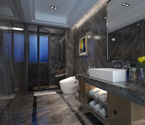 卫生间地砖现代风格装潢效果图