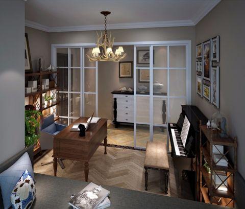 书房照片墙现代简约风格装潢效果图