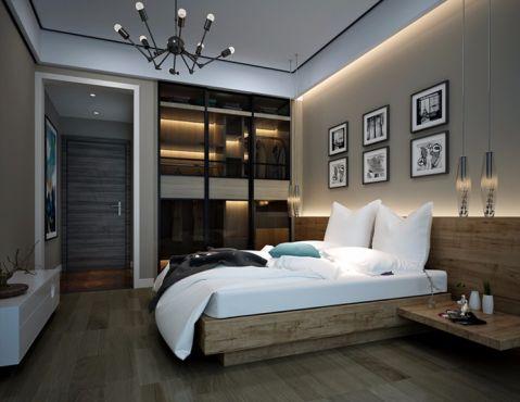 卧室推拉门现代简约风格装饰图片
